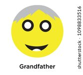 grandfather icon isolated on... | Shutterstock .eps vector #1098833516