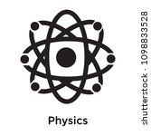 physics icon isolated on white... | Shutterstock .eps vector #1098833528