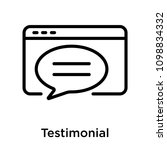 testimonial icon isolated on...   Shutterstock .eps vector #1098834332