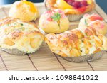 sausage bread with mayonnaise | Shutterstock . vector #1098841022
