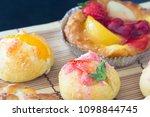 delicious choux cream | Shutterstock . vector #1098844745