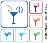 cocktail glass sign with... | Shutterstock .eps vector #1098845312