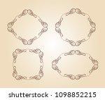 set vector retro frames .vector ... | Shutterstock .eps vector #1098852215
