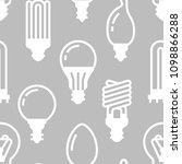 light bulbs seamless pattern... | Shutterstock .eps vector #1098866288