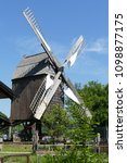 the post mill is the earliest...   Shutterstock . vector #1098877175