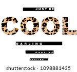 leopard text black and white... | Shutterstock .eps vector #1098881435