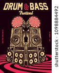 drum and bass gig poster flyer... | Shutterstock .eps vector #1098884492