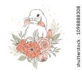 vector illustration. little... | Shutterstock .eps vector #1098888308