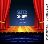 theater stage with curtain.... | Shutterstock .eps vector #1098891125