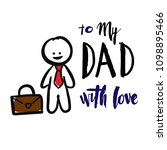 happy father's day hand... | Shutterstock .eps vector #1098895466