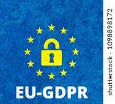 eu gdpr label illustration | Shutterstock .eps vector #1098898172