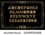 alphabet design   handcrafted... | Shutterstock .eps vector #1098900488