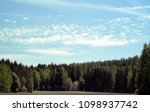 Small photo of View with altocumulus floccus clouds on the sky
