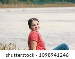beautiful model in the wild... | Shutterstock . vector #1098941246