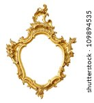 gold vintage frame isolated on... | Shutterstock . vector #109894535