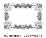vintage baroque victorian frame ... | Shutterstock .eps vector #1098945845
