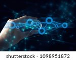hand with internet global... | Shutterstock . vector #1098951872