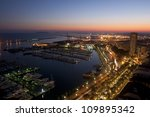 alicante port and marina as... | Shutterstock . vector #109895342