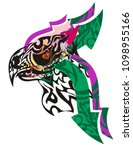 tribal abstract griffin head... | Shutterstock .eps vector #1098955166