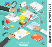 flat isometric concept of... | Shutterstock . vector #1098958205