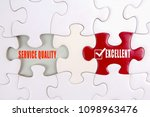 missing puzzle with a words ... | Shutterstock . vector #1098963476