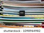 delete something. this black... | Shutterstock . vector #1098964982