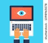 big brother  eye symbol on...   Shutterstock .eps vector #1098965078