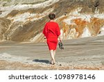woman in a business red dress ... | Shutterstock . vector #1098978146