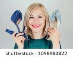beautiful smiling crazy blonde... | Shutterstock . vector #1098983822