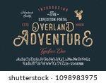 original handmade alphabet.... | Shutterstock .eps vector #1098983975