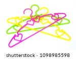 pile of colorful clothes hanger ... | Shutterstock . vector #1098985598