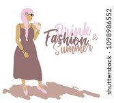 summer. fashion. woman. a young ... | Shutterstock .eps vector #1098986552
