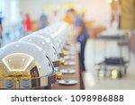 many buffet heated trays ready...   Shutterstock . vector #1098986888