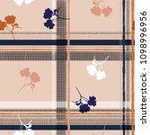 pastel pink seamless pattern... | Shutterstock .eps vector #1098996956