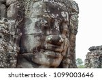 stone face relief of ancient... | Shutterstock . vector #1099003646