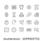 set of time outline icons... | Shutterstock .eps vector #1099005752
