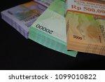 indonesian rupiah banknote as... | Shutterstock . vector #1099010822
