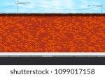 vector illustration of deserted ... | Shutterstock .eps vector #1099017158
