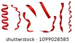 collection of  various red... | Shutterstock . vector #1099028585