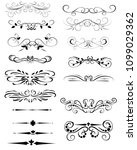 set of decorative florish... | Shutterstock .eps vector #1099029362