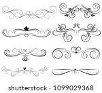 set of decorative florish...   Shutterstock .eps vector #1099029368