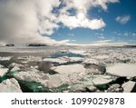 bright arctic scenery in franz... | Shutterstock . vector #1099029878