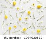 Flower Pattern Background Of...