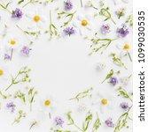 flower pattern background of... | Shutterstock . vector #1099030535