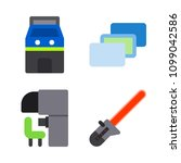 icons virtual reality with... | Shutterstock .eps vector #1099042586