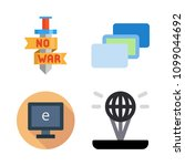 icons virtual reality with... | Shutterstock .eps vector #1099044692