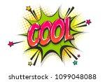 cool burst wow comic text... | Shutterstock .eps vector #1099048088