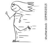 Cartoon Stick Man Drawing...