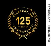 125 years design template.... | Shutterstock .eps vector #1099055288