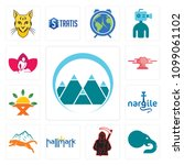 set of 13 simple editable icons ...   Shutterstock .eps vector #1099061102